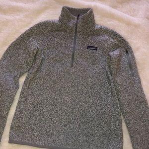 Patagonia gray half zip fleece